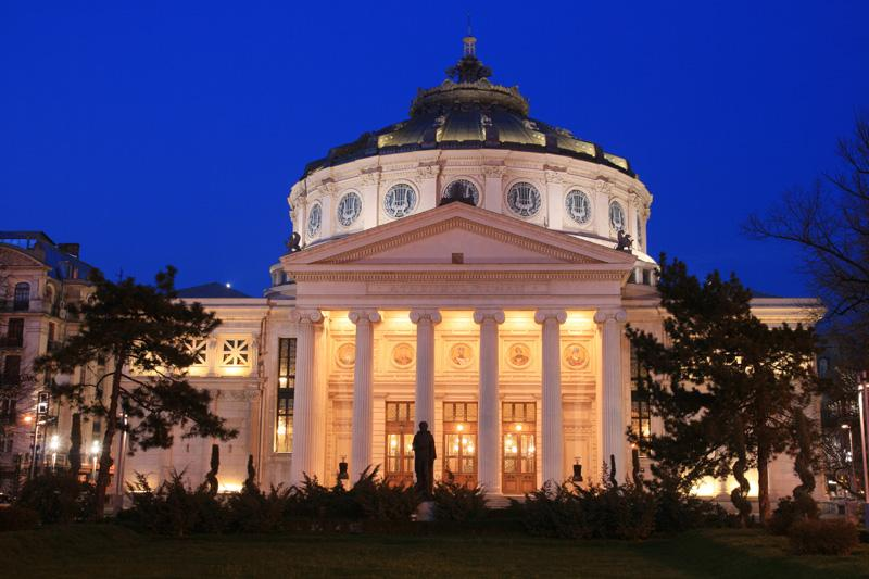 Romanian-Atheneum-night-Bucharest