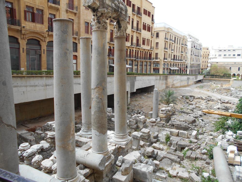 Beirut downtown ruine romane