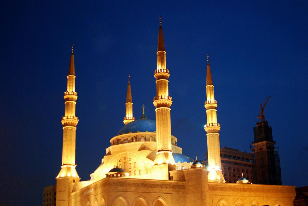 Beirut blue mosque