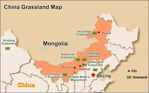 inner mongolia map